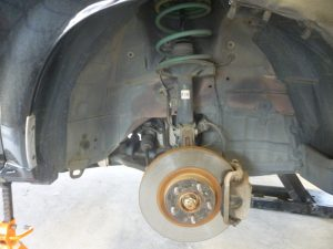 Z50 ムラーノ 車高調取り付け & 純正マフラーストレート加工