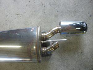メルセデスベンツ CL550 マフラーエンド修正